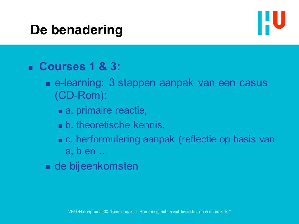 De benadering Courses 1 & 3:
