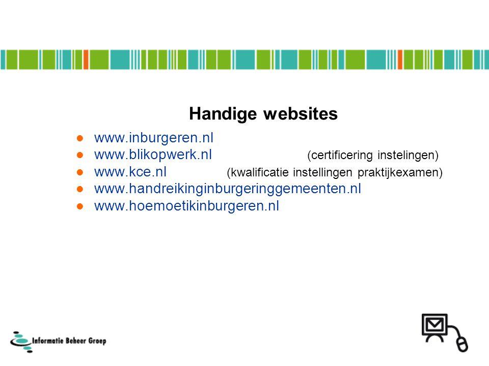 Handige websites www.inburgeren.nl