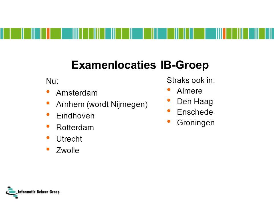 Examenlocaties IB-Groep