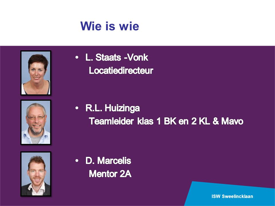 Wie is wie L. Staats -Vonk Locatiedirecteur R.L. Huizinga