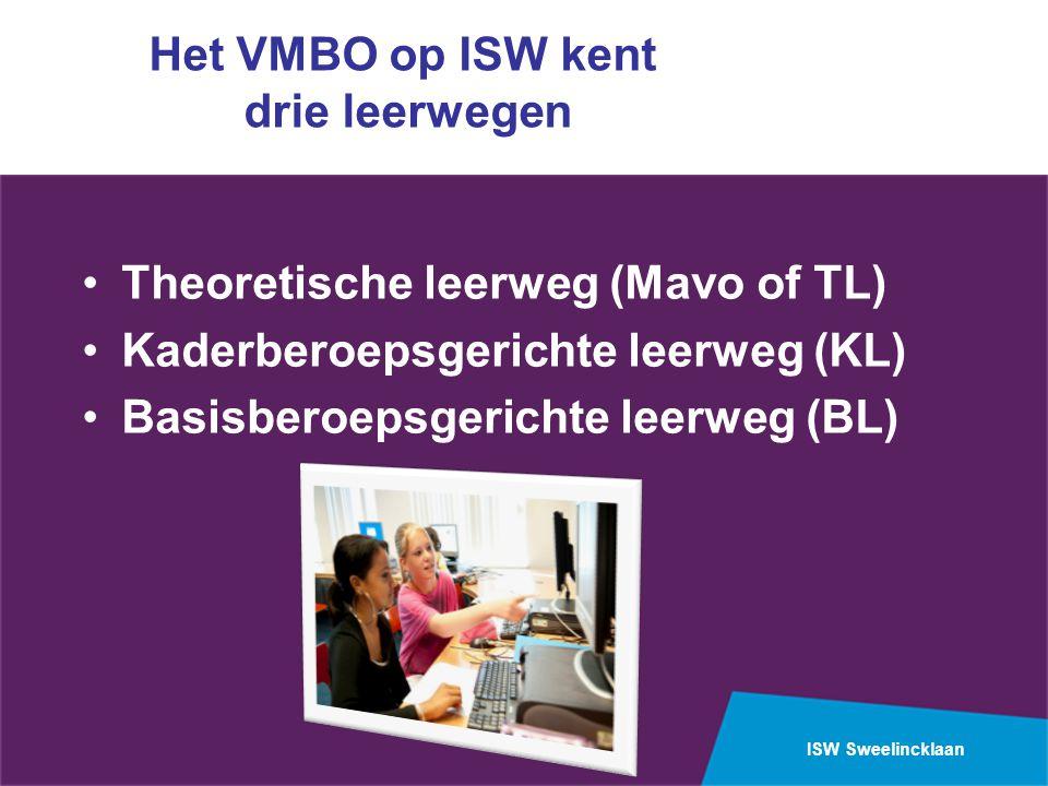 Het VMBO op ISW kent drie leerwegen