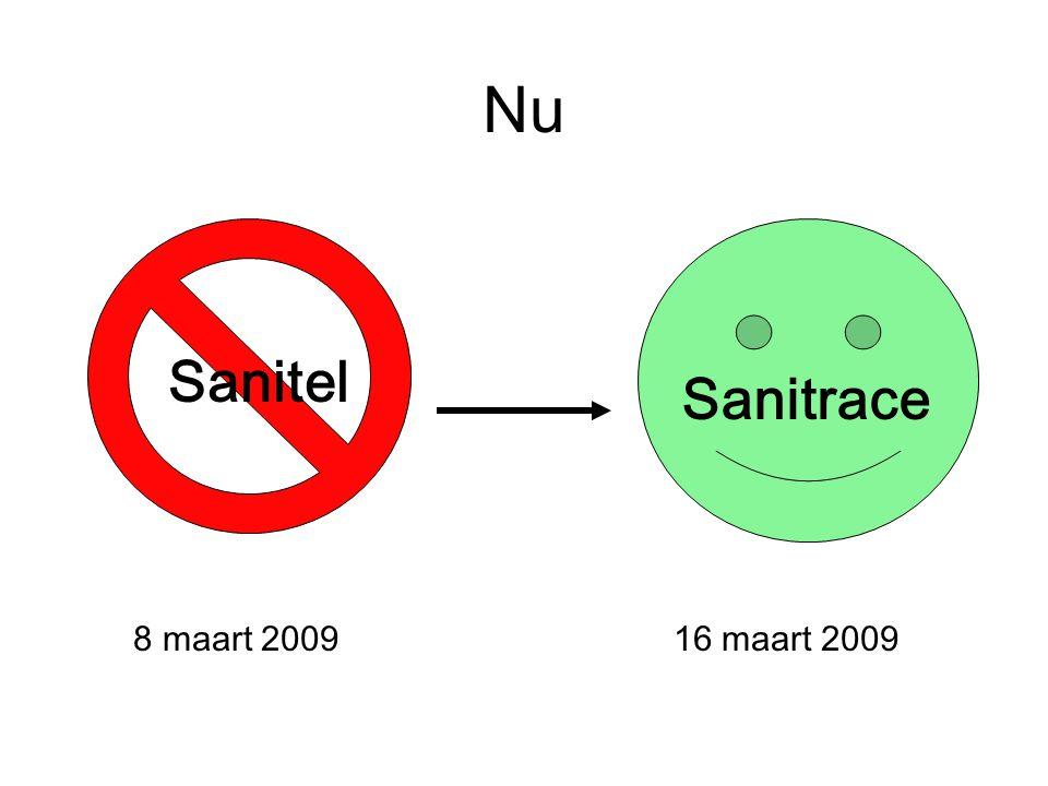 Nu Sanitel Sanitrace 8 maart 2009 16 maart 2009