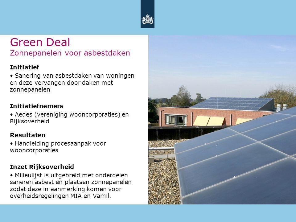 Green Deal Zonnepanelen voor asbestdaken