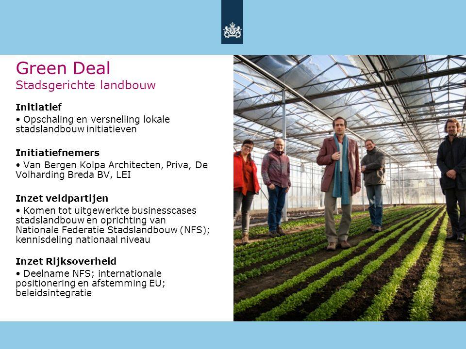Green Deal Stadsgerichte landbouw
