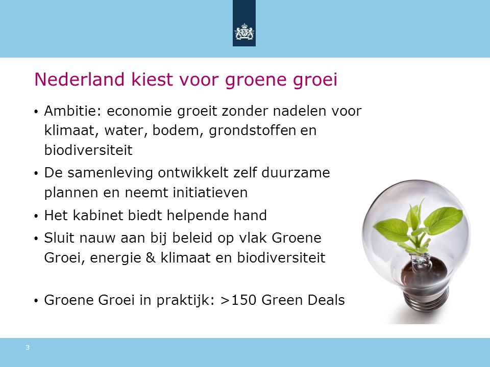 Nederland kiest voor groene groei
