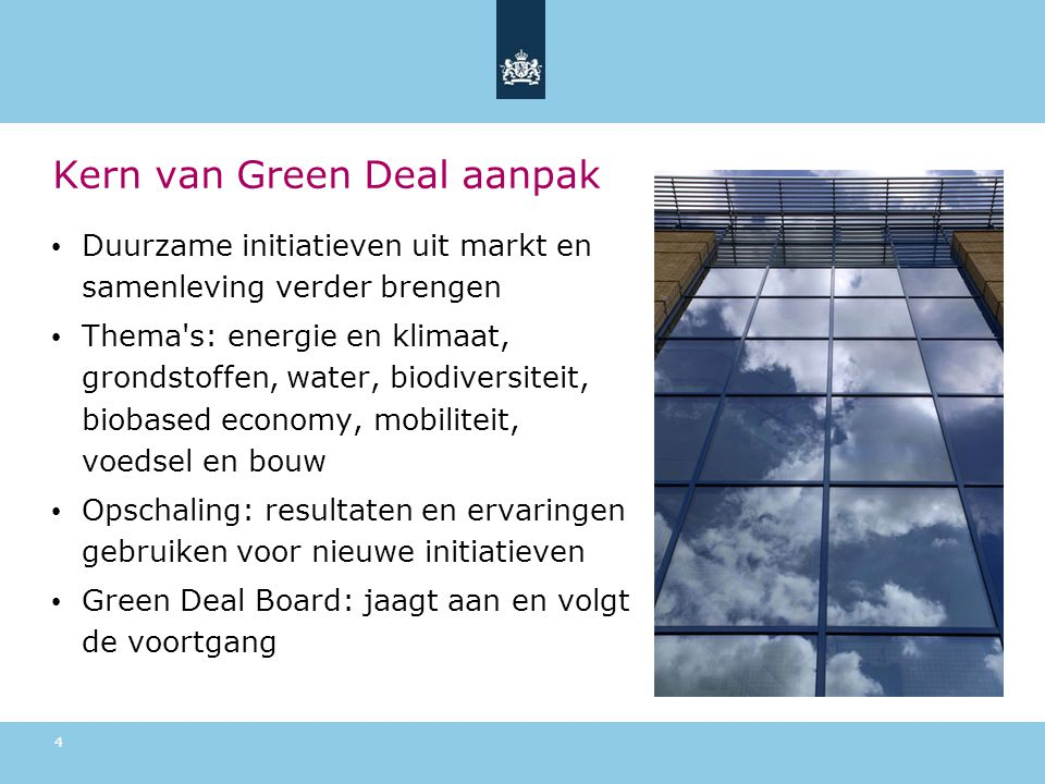 Kern van Green Deal aanpak