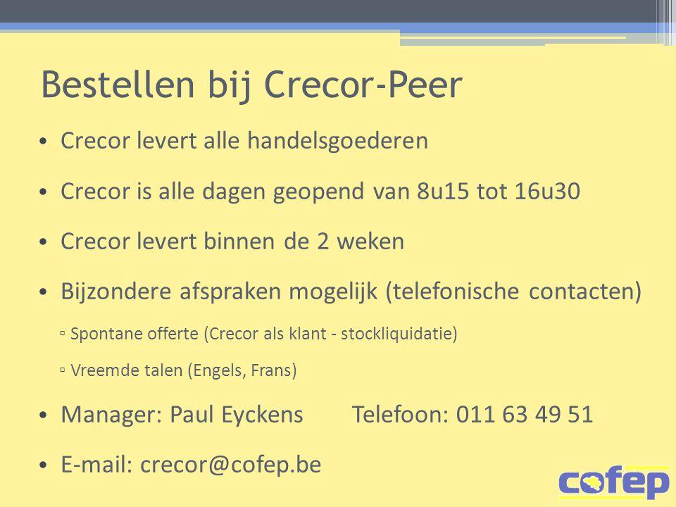Bestellen bij Crecor-Peer