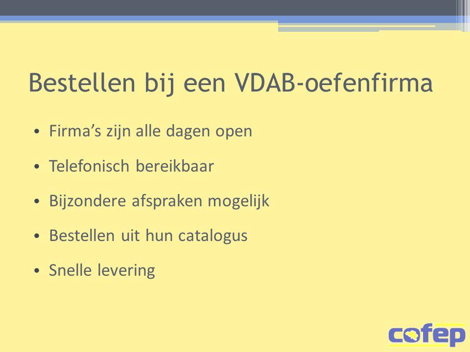 Bestellen bij een VDAB-oefenfirma
