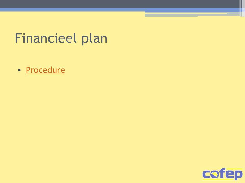 Financieel plan Procedure