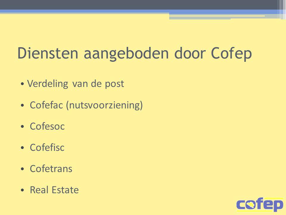 Diensten aangeboden door Cofep
