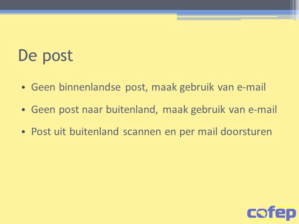 De post Geen binnenlandse post, maak gebruik van e-mail