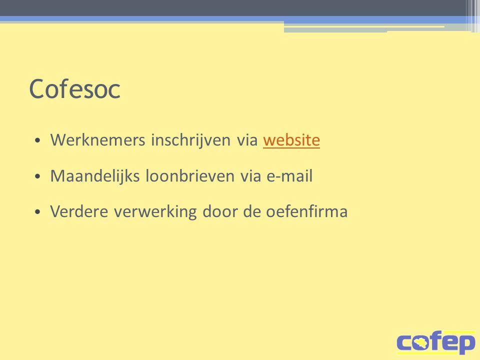 Cofesoc Werknemers inschrijven via website