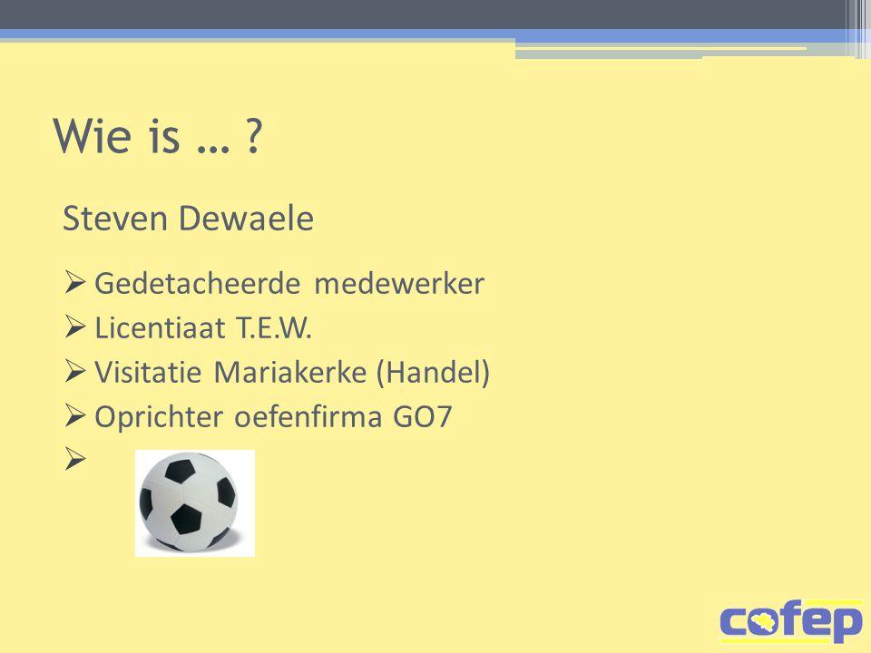Wie is … Steven Dewaele Gedetacheerde medewerker Licentiaat T.E.W.