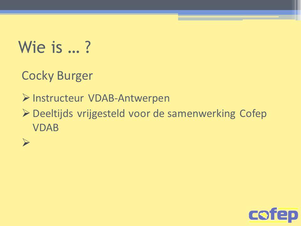Wie is … Cocky Burger Instructeur VDAB-Antwerpen