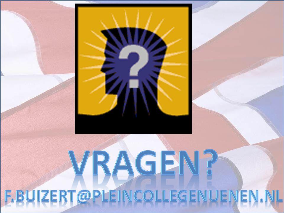 VRAGEN F.BUIZERT@PLEINCOLLEGENUENEN.NL