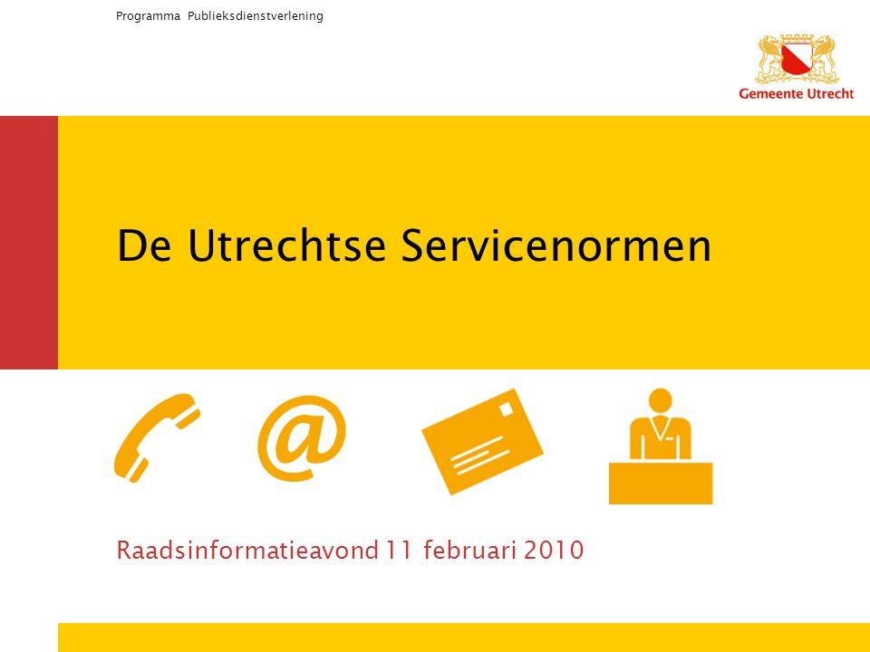 De Utrechtse Servicenormen