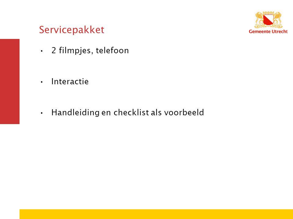 Servicepakket 2 filmpjes, telefoon Interactie