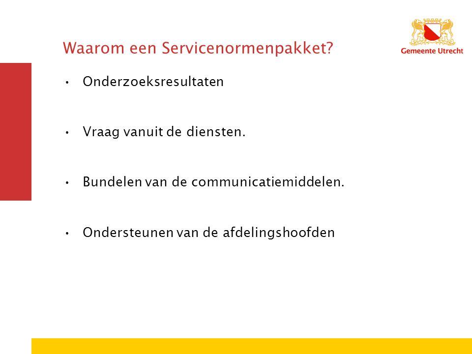 Waarom een Servicenormenpakket