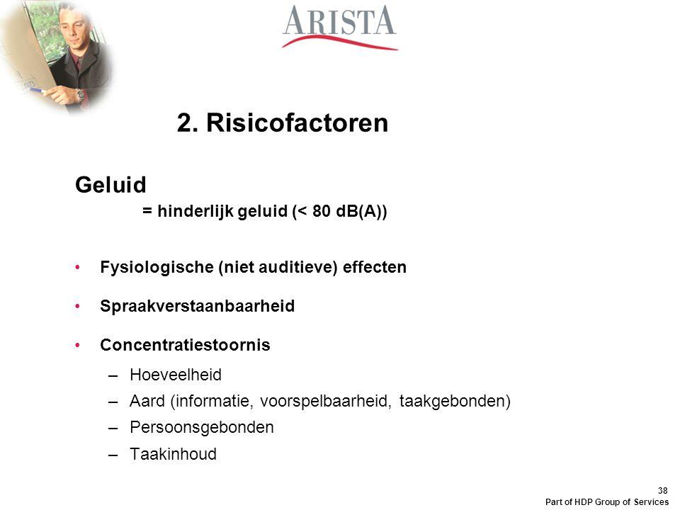 2. Risicofactoren Geluid Fysiologische (niet auditieve) effecten