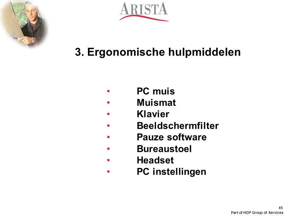 3. Ergonomische hulpmiddelen