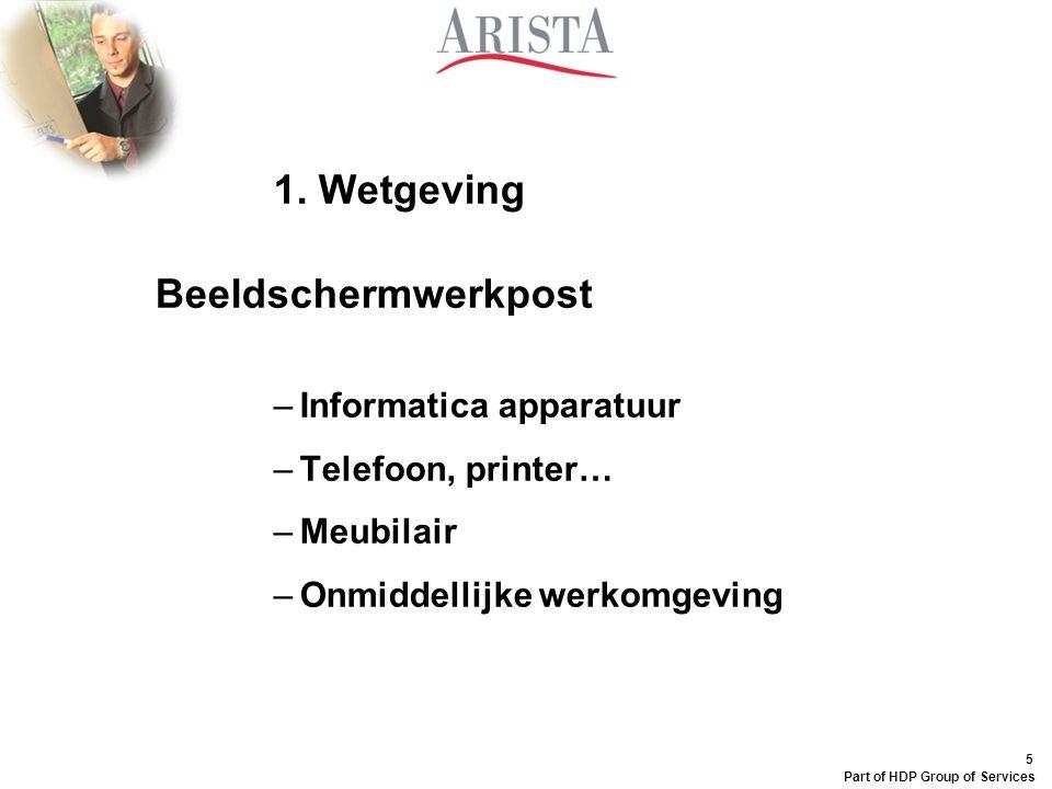 1. Wetgeving Beeldschermwerkpost Informatica apparatuur