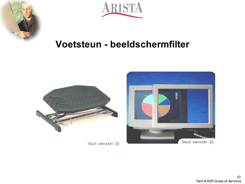 Voetsteun - beeldschermfilter