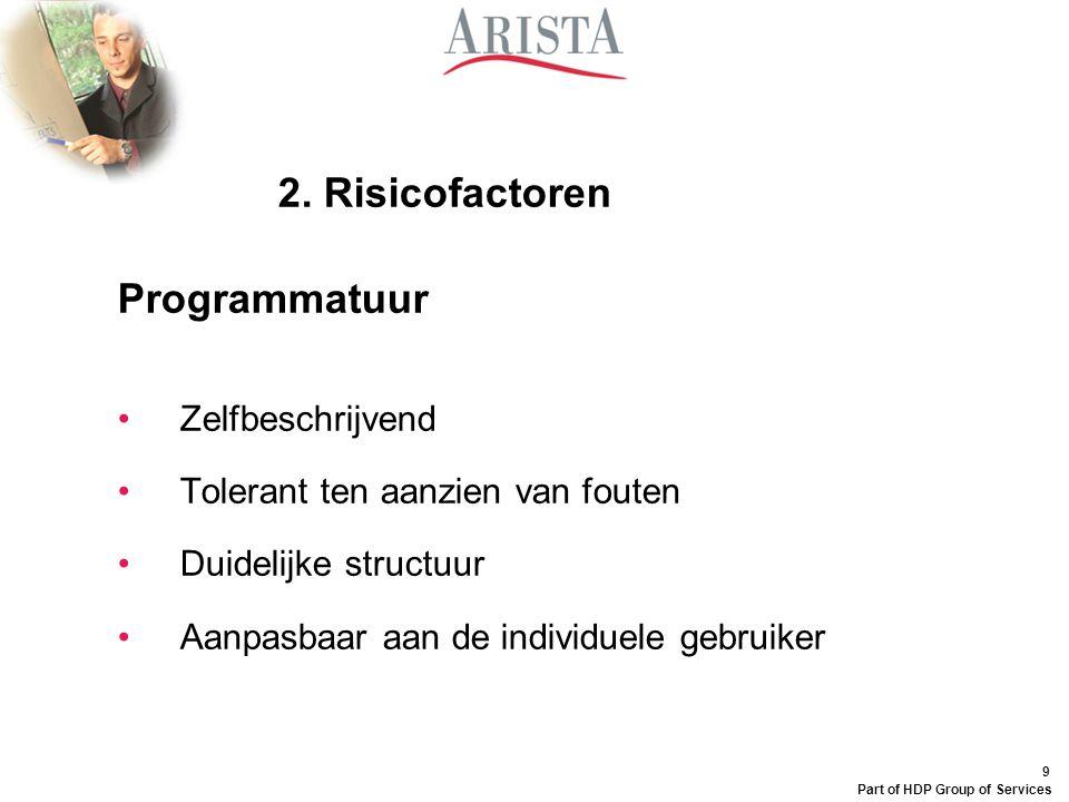 2. Risicofactoren Programmatuur Zelfbeschrijvend