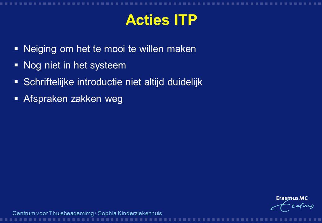 Acties ITP Neiging om het te mooi te willen maken