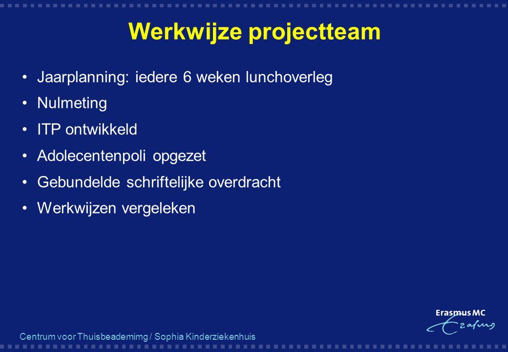 Werkwijze projectteam