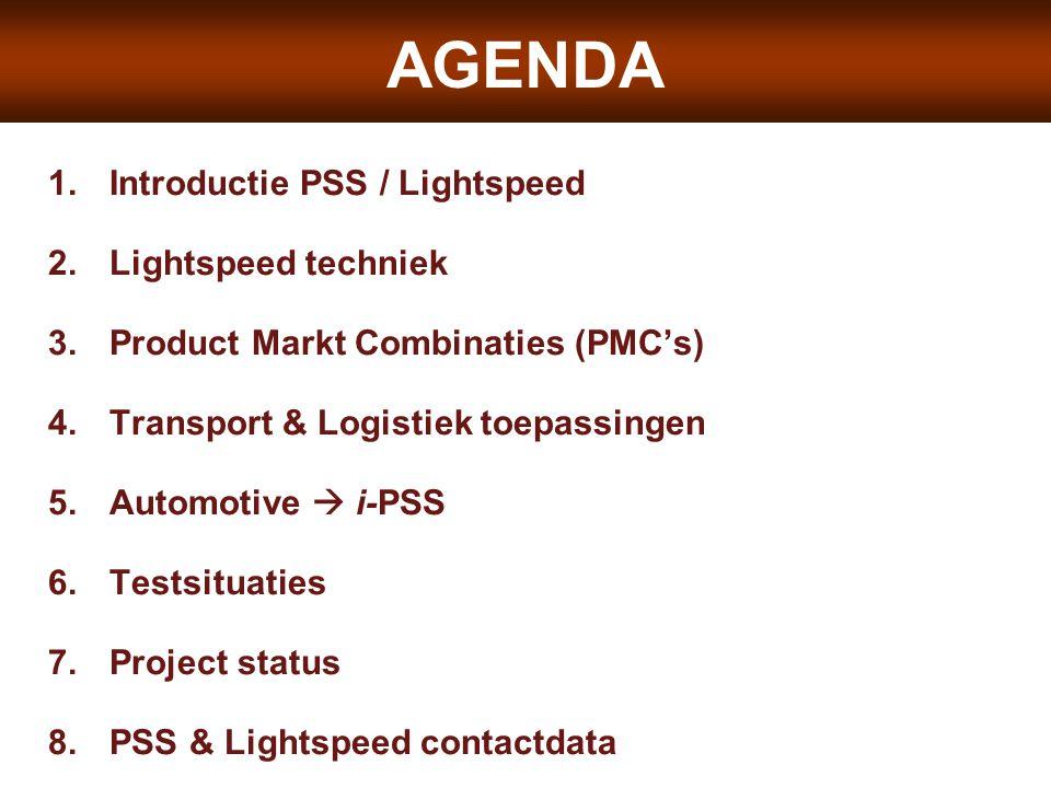 AGENDA LIGHTSPEED SYSTEMS Introductie PSS / Lightspeed