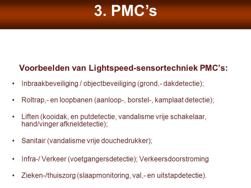 Voorbeelden van Lightspeed-sensortechniek PMC's: