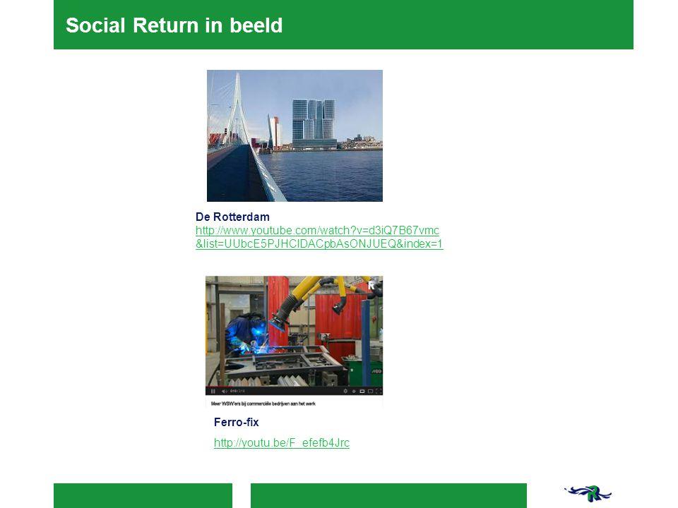 Social Return in beeld De Rotterdam