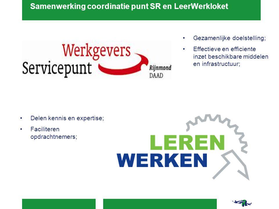 Samenwerking coordinatie punt SR en LeerWerkloket
