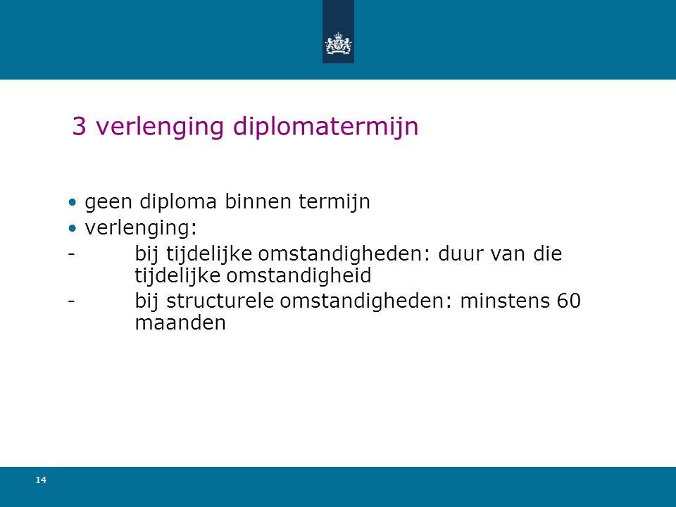 3 verlenging diplomatermijn