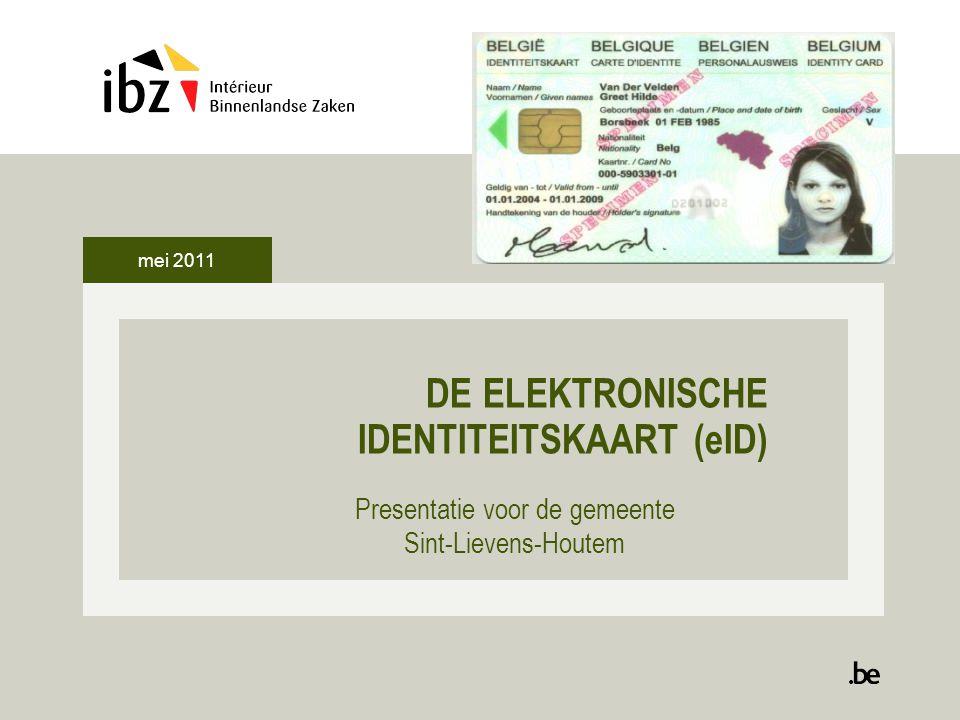 DE ELEKTRONISCHE IDENTITEITSKAART (eID)