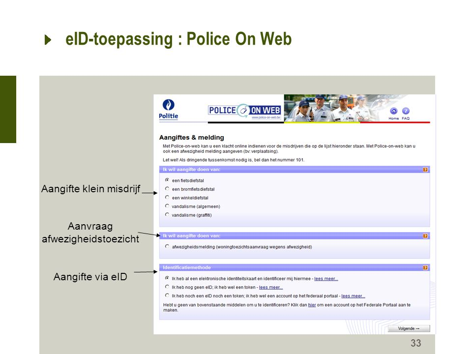 eID-toepassing : Police On Web