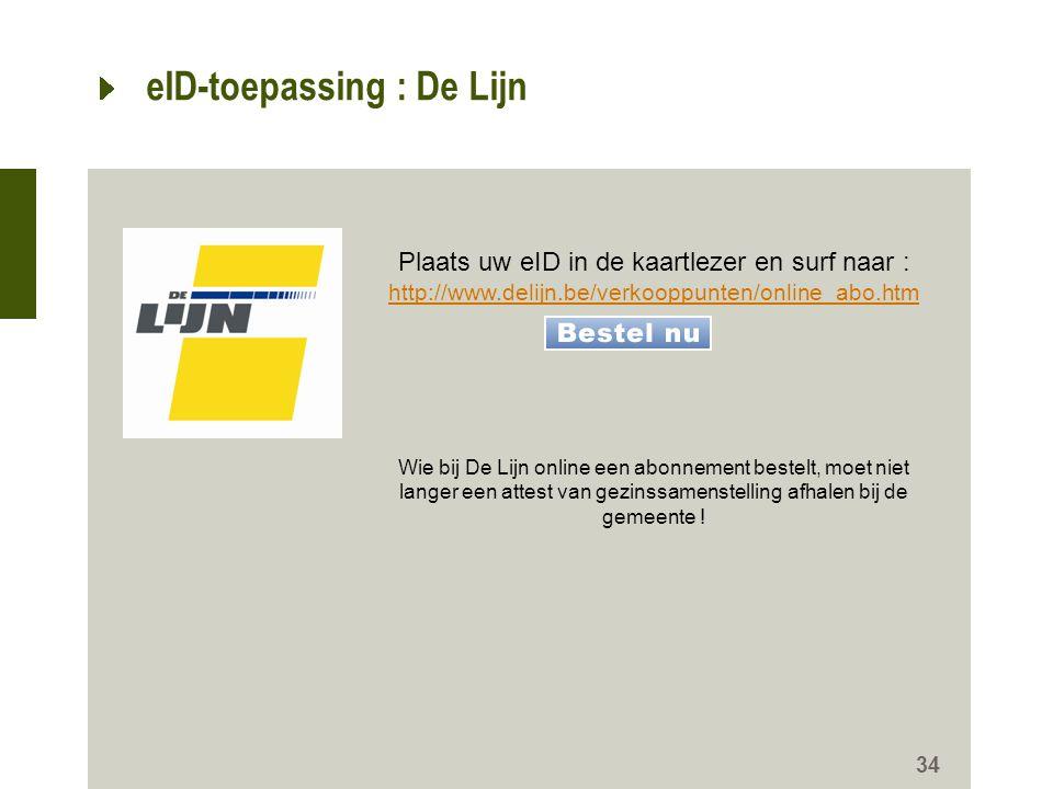 eID-toepassing : De Lijn