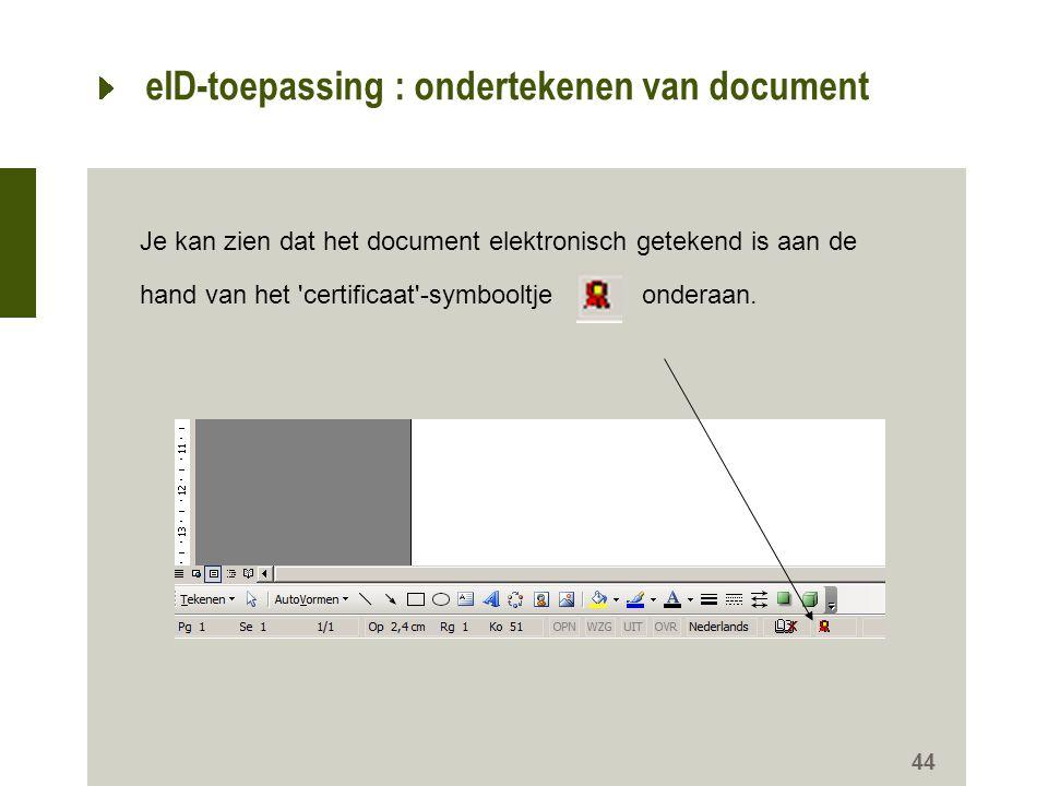 eID-toepassing : ondertekenen van document