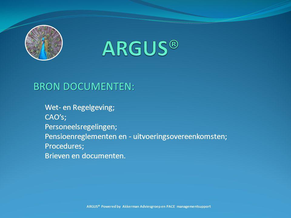 ARGUS® Powered by Akkerman Adviesgroep en PACE managementsupport