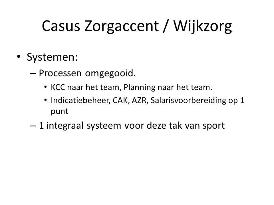 Casus Zorgaccent / Wijkzorg