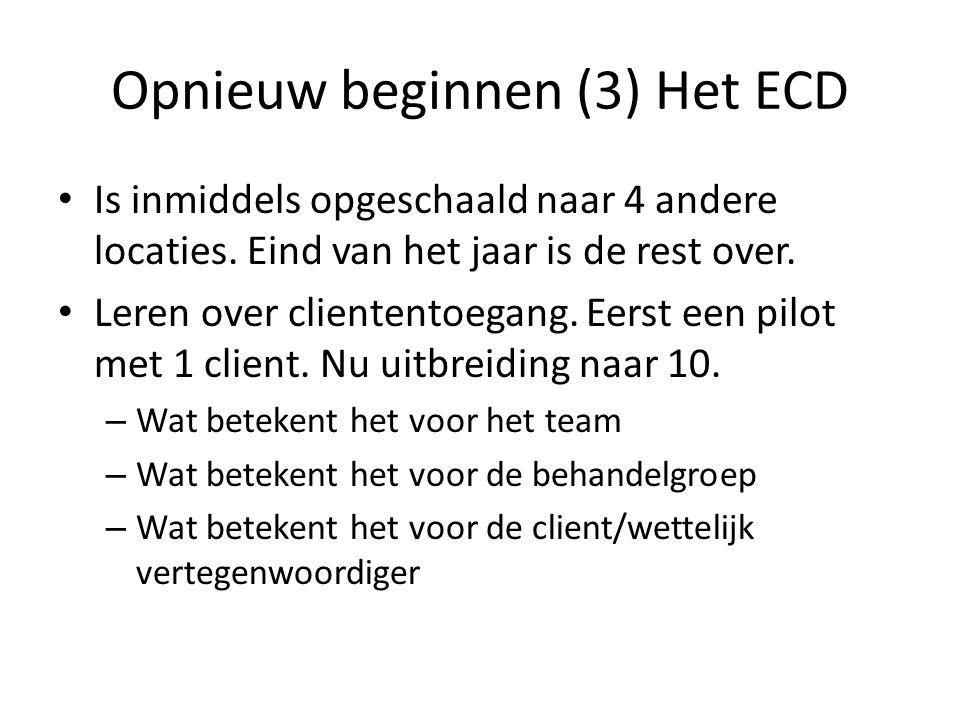 Opnieuw beginnen (3) Het ECD