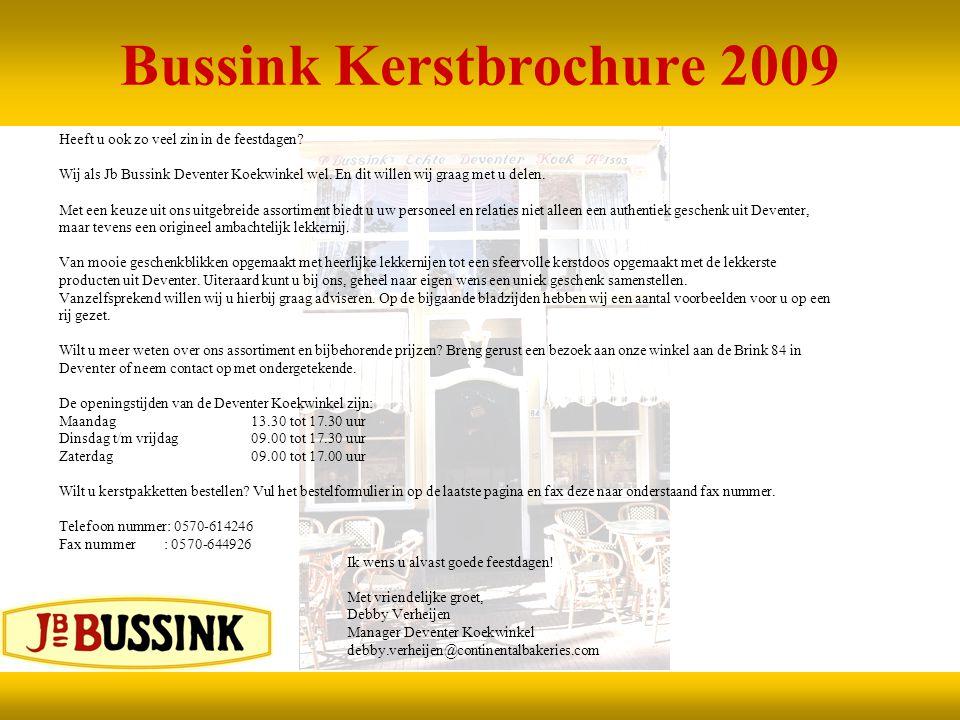 Bussink Kerstbrochure 2009