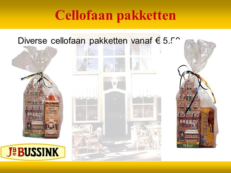 Cellofaan pakketten Diverse cellofaan pakketten vanaf € 5.50