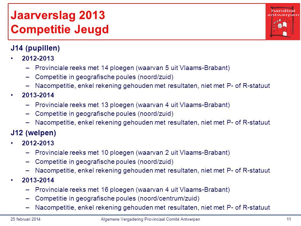 Jaarverslag 2013 Competitie Jeugd