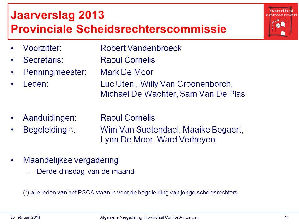 Jaarverslag 2013 Provinciale Scheidsrechterscommissie