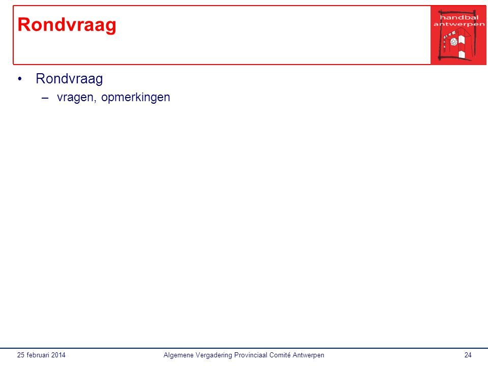 Algemene Vergadering Provinciaal Comité Antwerpen