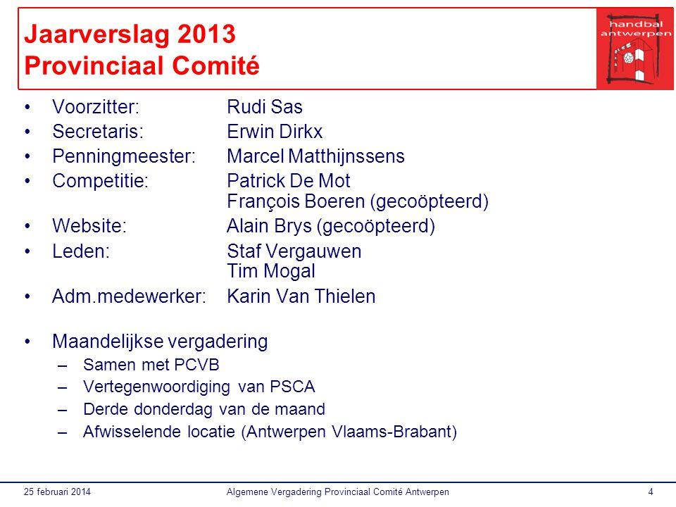 Jaarverslag 2013 Provinciaal Comité