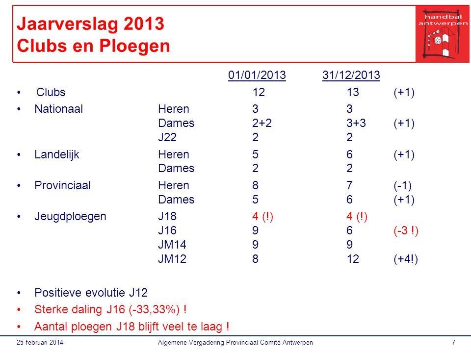 Jaarverslag 2013 Clubs en Ploegen