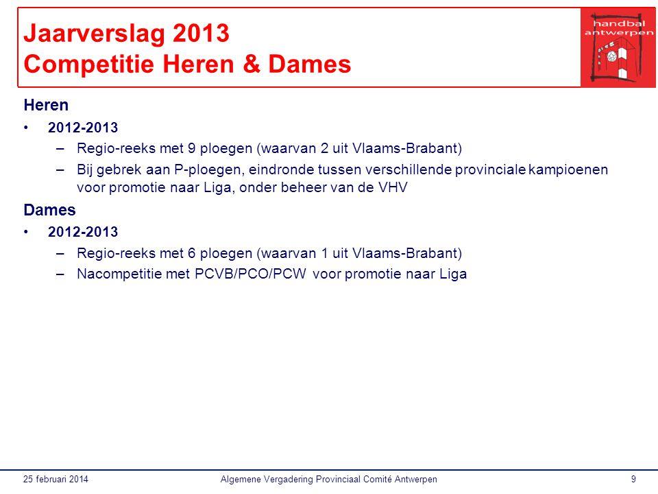 Jaarverslag 2013 Competitie Heren & Dames