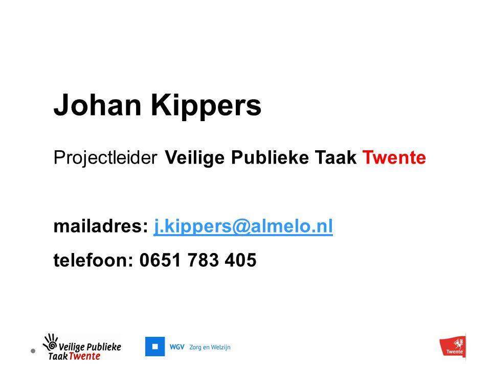 Johan Kippers Projectleider Veilige Publieke Taak Twente